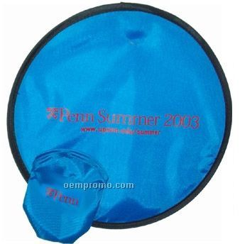Fun Disk Collapsible Nylon Flying Disk With Imprinted Pouch (10