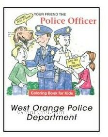 Your Friend The Police Officer Activity Coloring Book