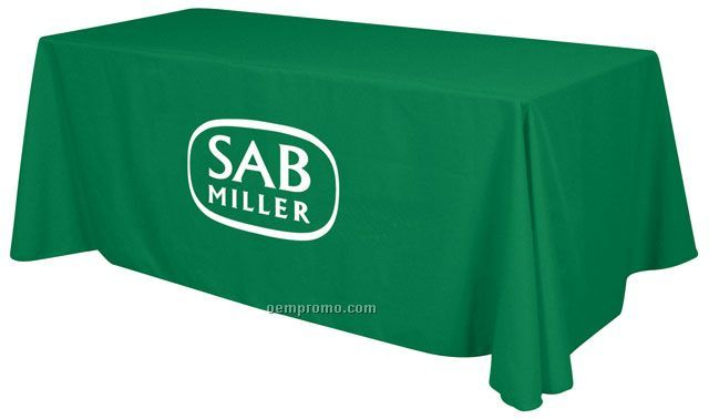 8' Digitally Printed Recycled Table Cover - Black
