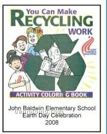 Make Recycling Work Activity Coloring Book