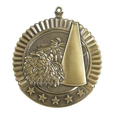 "Medal, ""Cheerleading"" Star - 2-3/4"" Dia"