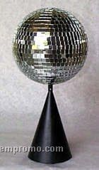 "Silver Disco Mirror Ball With Base / Table Or Hang Option (8"")"