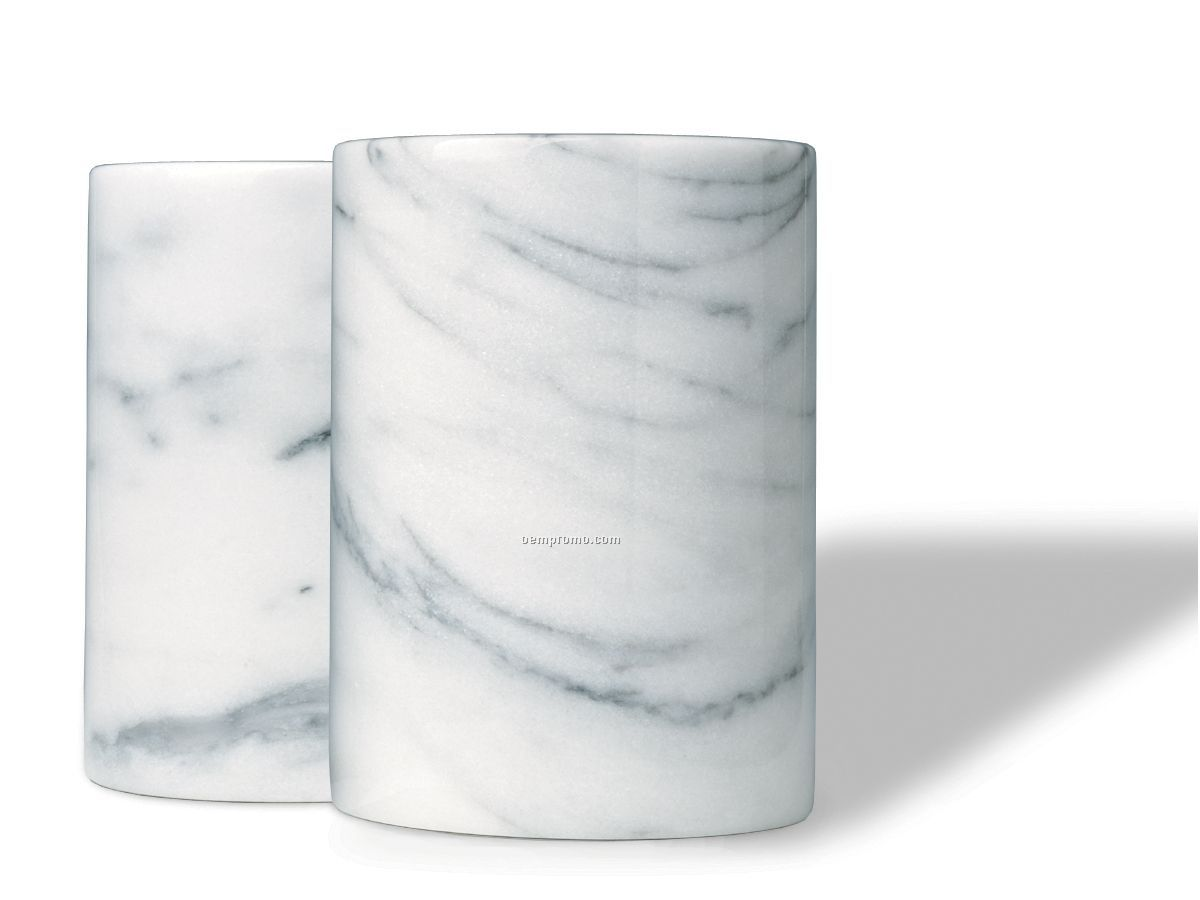 White Marble Wine Cooler