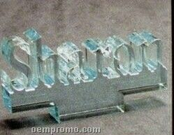 Acrylic Paperweight Up To 20 Square Inches / Name