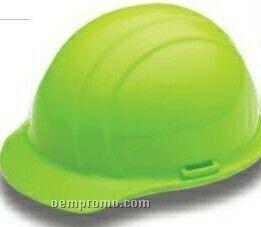 Americana Cap Hard Hat W/ Mega Ratchet 4 Point Suspension - Hi Viz Pink