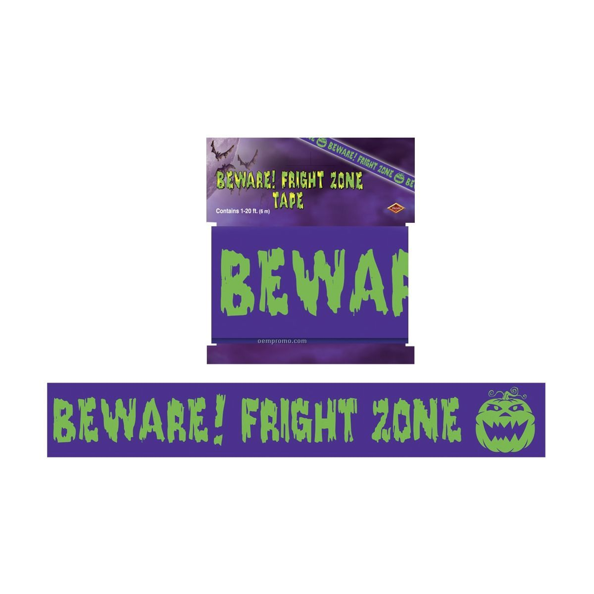 Beware Fright Zone Party Tape