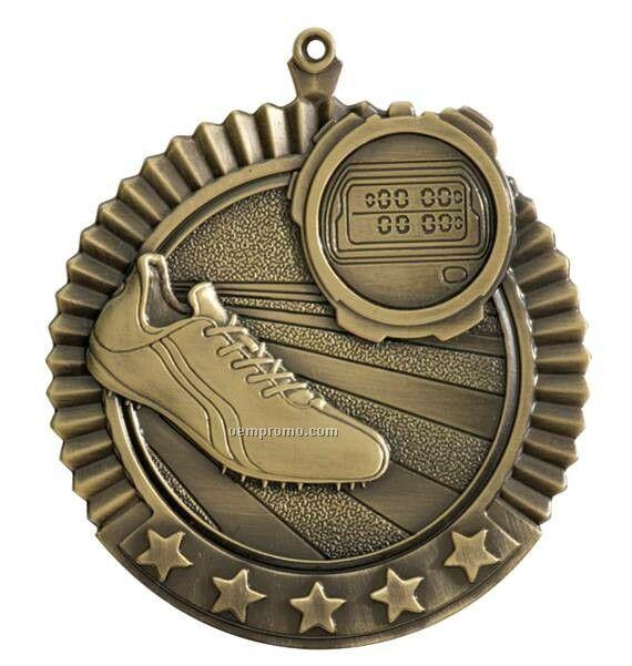 "Medal, ""Track"" Star - 2-3/4"" Dia"