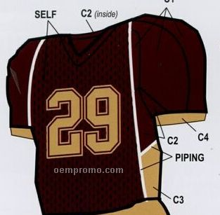 Youth Custom Football Uniform Jersey W/ Front & Underarm Piping