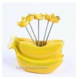 Banana-shaped Fruit Fork