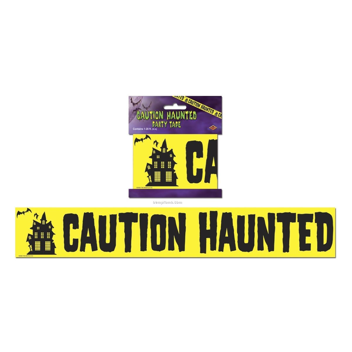 Caution Haunted Zone Party Tape