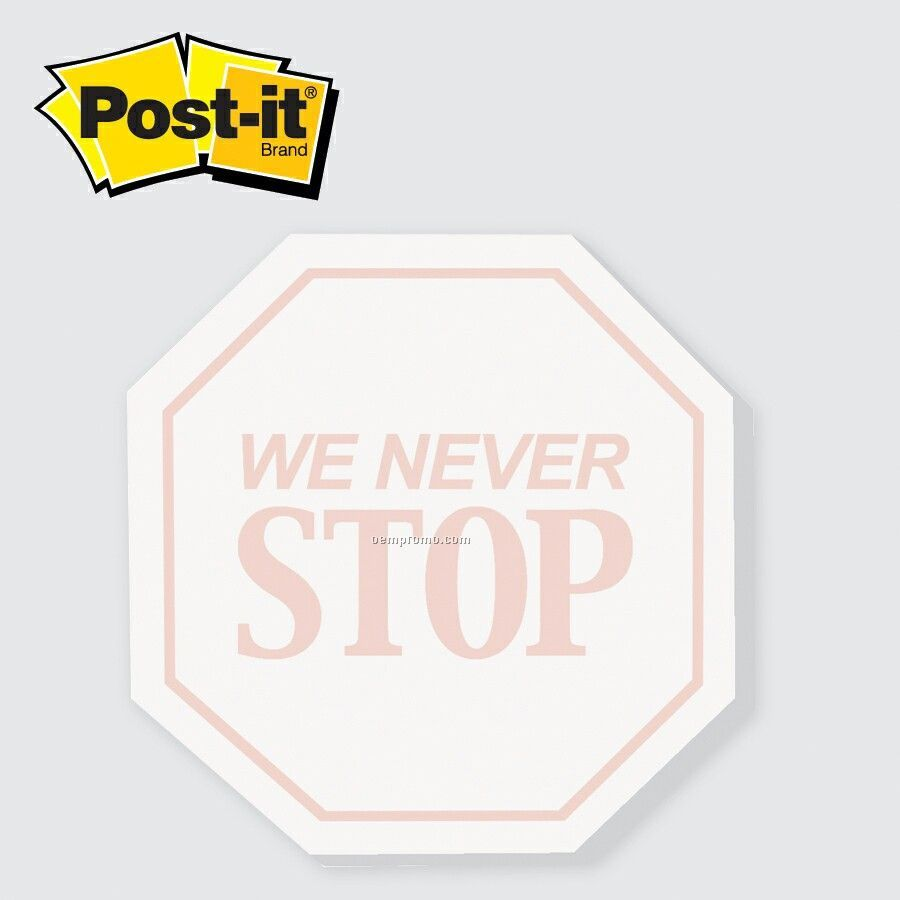 Medium Stop Sign Post-it Die Cut Notepad (25 Sheets/2 Color)