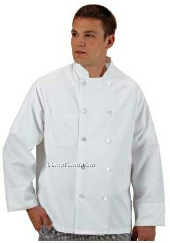 Cook's Classics Twill Chef Coat W/ Full Sleeve - White (2xl-4xl)