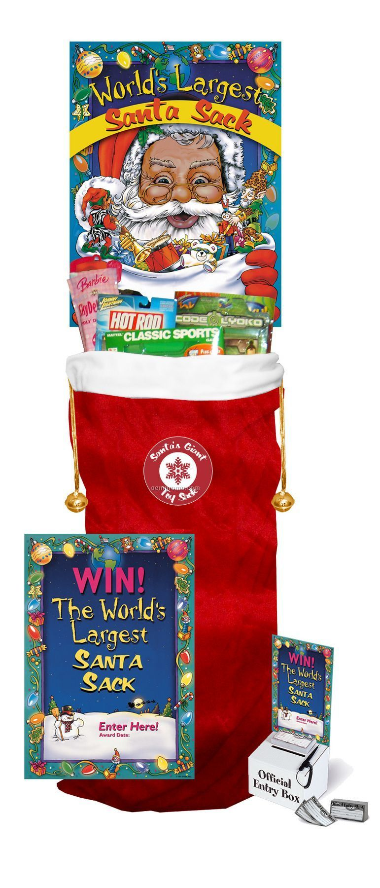 Giant 4 Ft. Tall Deluxe Toy-filled Santa Sack