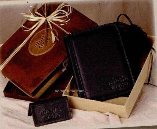Gift Set W/ Jr. Meeting Folder & Business Card Case