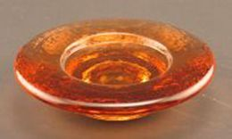 Rococo Candle Stand. 91% Post-consumer Recycled Glass. Copper.