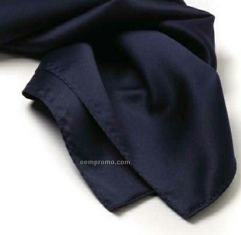 "Wolfmark Solid Series Navy Blue Silk Scarf (30""X30"")"