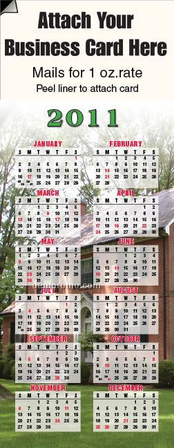 2011 Home Life Adcal Magnetic Business Card Calendar