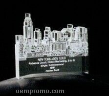 Acrylic Paperweight Up To 20 Square Inches / New York City