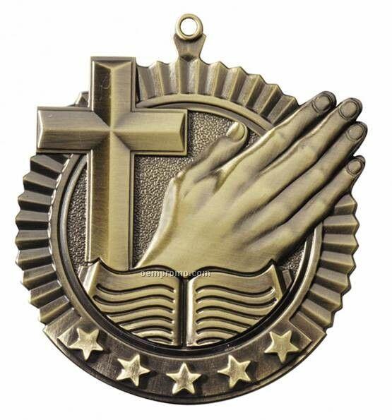 "Medal, ""Religion"" Star - 2-3/4"" Dia"