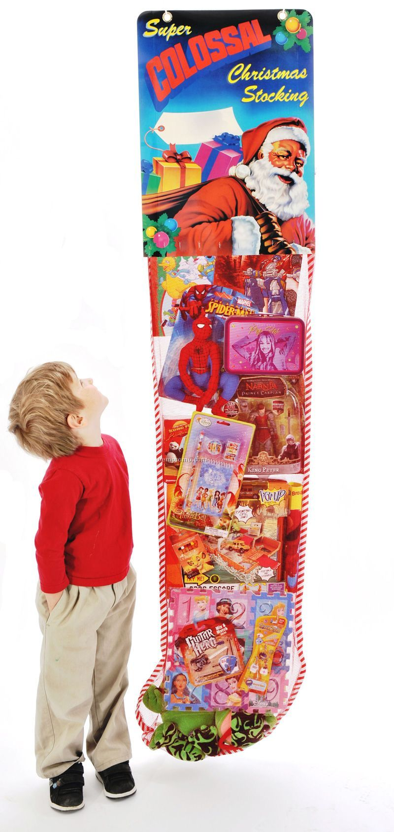 The World's Largest 6' Promotional Hanging Deluxe Christmas Stocking