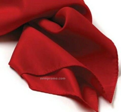 "Wolfmark Solid Series Red Silk Scarf (30""X30"")"