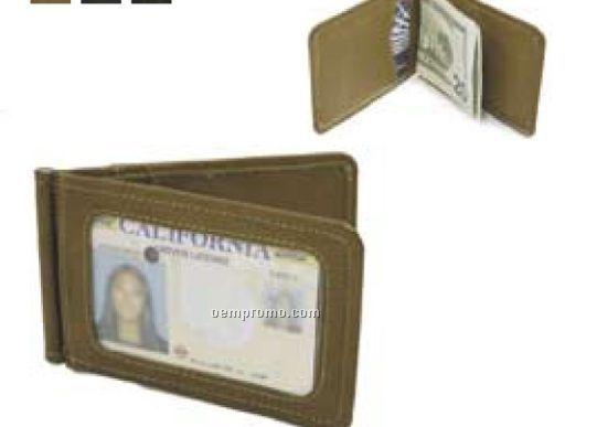 Bi-fold Money Clip W/ I.d. Window