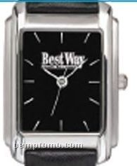 Pedre Men's Sutton Watch W/ Black Dial & Smooth Leather Straps