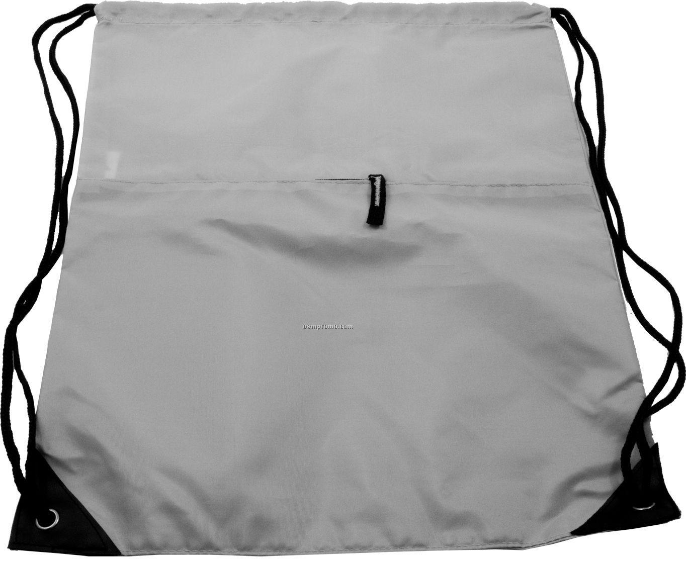 Drawstring Bag W/ Pocket (Overseas 6-7 Week Delivery)