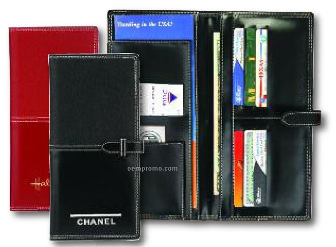 Milano Travel Wallet W/ Buckle Strap