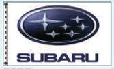 Checkers Double Face Dealer Logo Spacewalker Flag (Subaru)