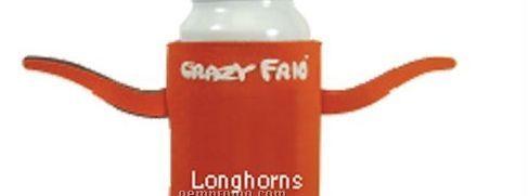 Crazy Frio Beverage Holder - Longhorns W/ 2 Appendages