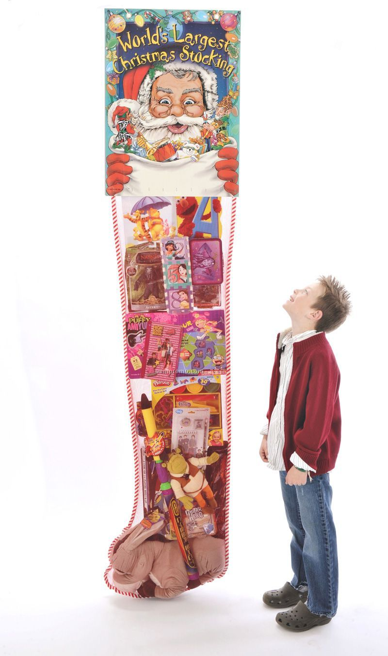 The World's Largest 6' Promotional Hanging Standard Christmas Stocking