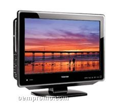 720p Lcd Hdtv/DVD Combo With High Gloss Finish