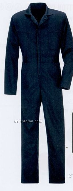 Twill Action Back Coverall W/ No Chest Pockets