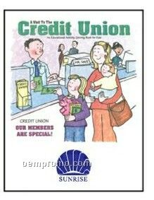 Visit To The Credit Union Activity Coloring Book