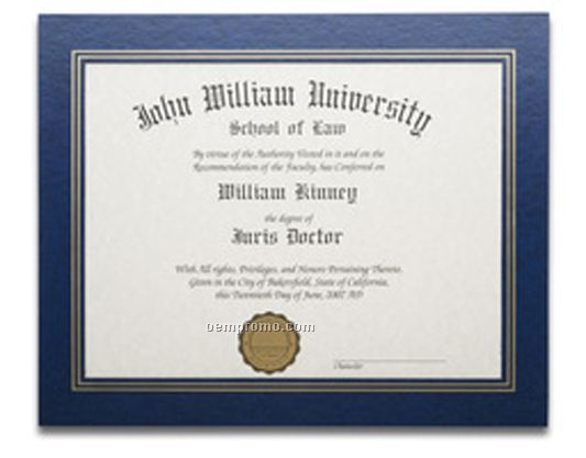 Royal Blue Leatherette Certificate Frame (11