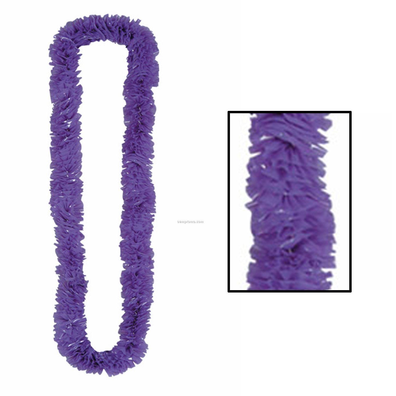 Soft Twist Solid Purple Poly Leis