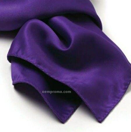 "Wolfmark Solid Series Purple Silk Scarf (30""X30"")"
