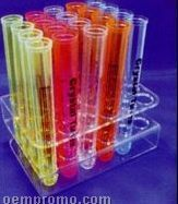 24 Hole Acrylic Plexi Test Tube Rack - Blank