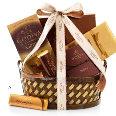 Chocolate Delights Gift Basket W/ Happy Birthday Ribbon