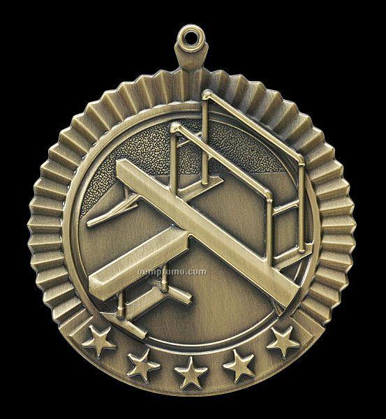 """Medal, """"Gymnastics - Female"""" Star - 2-3/4"""" Dia."""