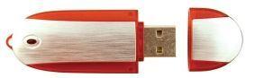 Oblong Flash Drive W/Side Trim (128 Mb)