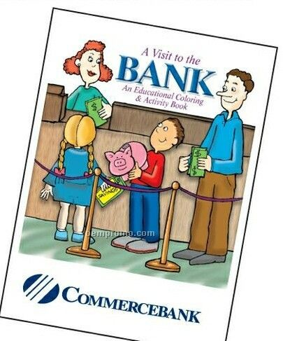 Visit To The Bank Activity Coloring Book