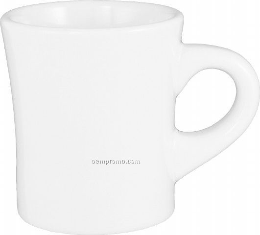5.5 Oz. White Ceramic Mini Diner Coffee Mug