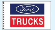 Checkers Double Face Dealer Logo Spacewalker Flag (Ford Trucks)