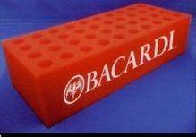 "40 Hole Brick Foam Rack - Blank - 6"" Tube Only"