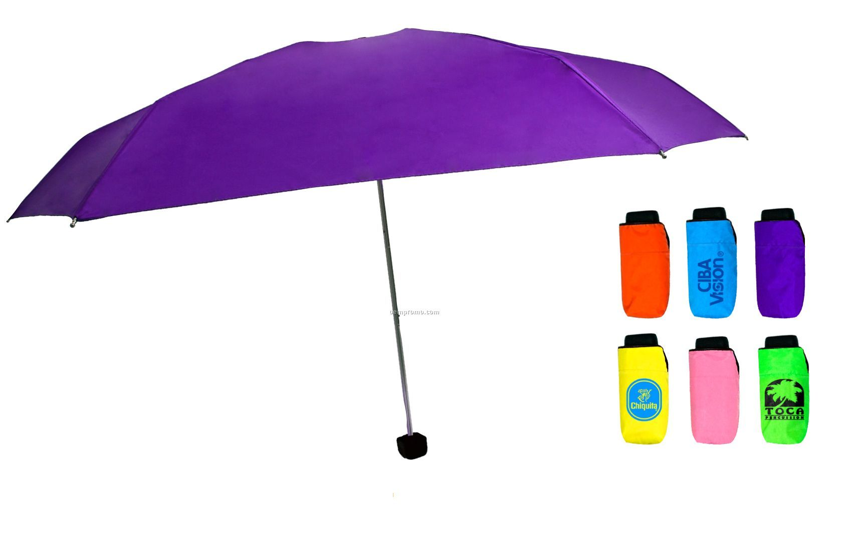 Merry Micro Folding Umbrella (Screen Printed)