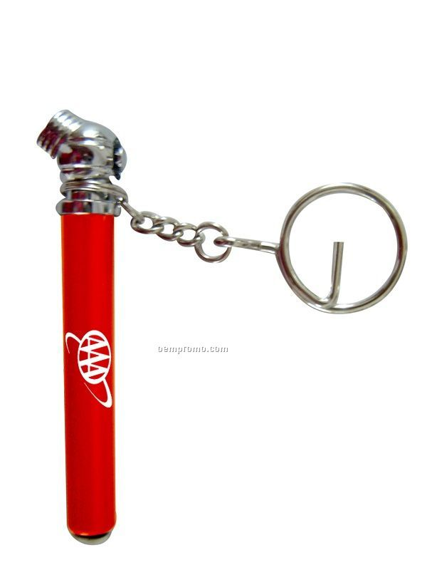 Mini Tire Pressure Gauge Keychain With O Ring