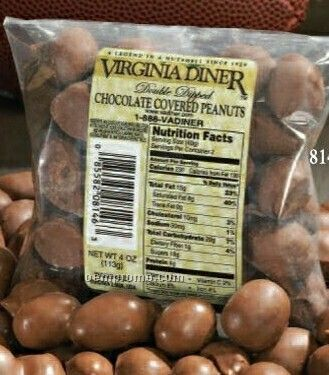 Chocolate Covered Peanuts In Bag 4 Oz.