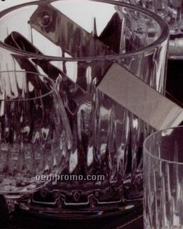 "Soho 6"" Ice Bucket W/ Tongs Barware"